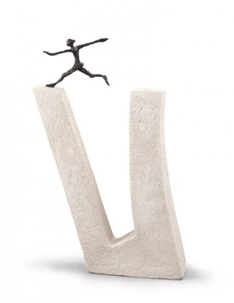 """Skulptur """"Wer nicht wagt..."""""""