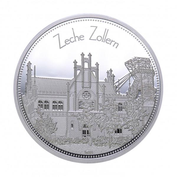 """Sammeledition """"Zechen im Ruhrgebiet"""" - 2. Motiv """"Zeche Zollern"""" - Silber"""