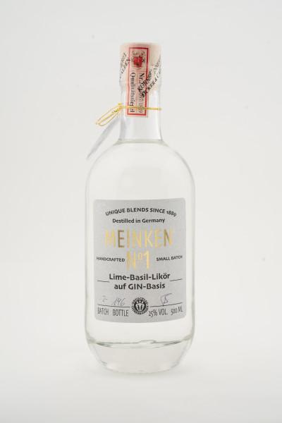 Meinken No.1 - Lime-Basil-Likör auf GIN-Basis inkl. Glas